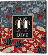 Animals And Love Canvas Print