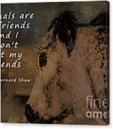 Animals Are My Friends Canvas Print
