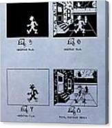 Animation Patent Canvas Print