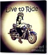 Anime Biker-live To Ride Canvas Print