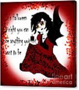 Anime Little Girl Vampire Canvas Print