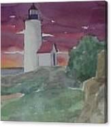 Anisquam Lighthouse Canvas Print