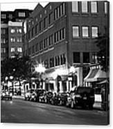 Ann Arbor Black And White Canvas Print