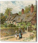 Anne Hathaway's Cottage At Shottery Canvas Print