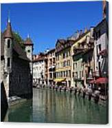 Annecy And Le Thiou Canvas Print