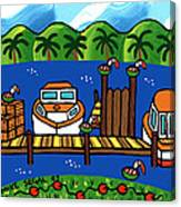 Annie's Dock - Cedar Key Canvas Print