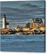 Annisquam Lighthouse From The Beach Canvas Print
