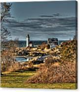 Annisquam Lighthouse Late Autumn Canvas Print