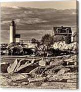 Annisquam Lighthouse Vintage Canvas Print