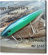 Anniversary Greeting Card - Saltwater Lure Canvas Print