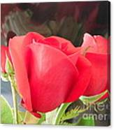 Anniversary Roses With Love 2 Canvas Print