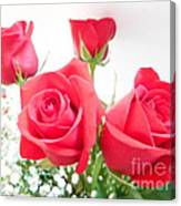 Anniversary Roses With Love 3 Canvas Print