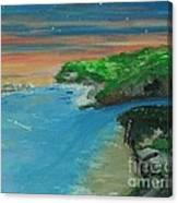 Ann's Beach On Lake Erie Canvas Print