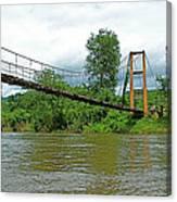 Another Bridge Over River Kwai In Kanchanaburi-thailand Canvas Print
