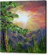 Another Canyon Sunset Canvas Print