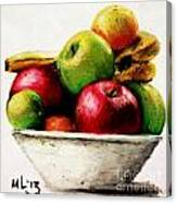 Another Fruit Bowl Canvas Print