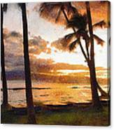 Another Maui Sunset - Pastel Canvas Print
