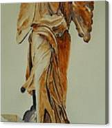 Another Perspective Of The Winged Lady Of Samothrace  Canvas Print