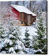 Another Wintry Barn Canvas Print