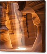 Antelope Canyon Gorgeous Lightbeam Canvas Print