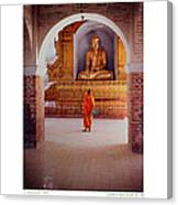 Anthony Howarth Collection - Gold - Saffron And Gold - Burma Canvas Print