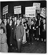 Anti-nazi Germany Parade In Los Canvas Print