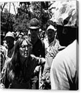 Anti-viet Nam War Protestor Confronting Smoking Marine Pro-war March Tucson Arizona 1970  Canvas Print