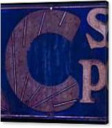Antique Ac Spark Plug Sign Canvas Print