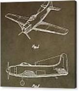Antique Airplane Patent Canvas Print