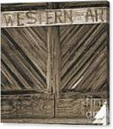 Antique Barn Doors In Sepia Black And White 3003.01 Canvas Print