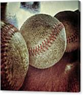 Antique Baseballs Still Life Canvas Print