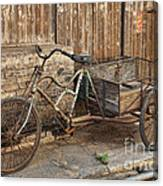 Antique Bicycle In The Town Of Daxu Canvas Print