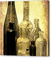 Antique Bottles From The Past Canvas Print