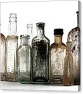 Antique Bottles Canvas Print