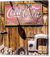 Antique Building At The Techatticup Gold Mine Canvas Print
