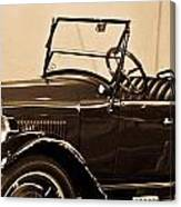 Antique Car In Sepia 1 Canvas Print