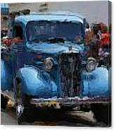 Antique Chevy Truck In Parade Canvas Print