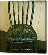 Antique Child's Chair With Quilt Canvas Print
