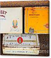Antique Cigarette Boxes Canvas Print