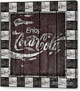 Antique Coca Cola Signs Canvas Print