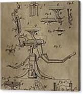 Antique Dental Chair Patent Canvas Print