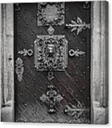 Antique Doors In Budweis Canvas Print