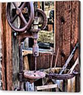 Antique Drill Press Canvas Print