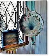 Antique Edison Phonograph In The Boardwalk Plaza Lobby - Rehoboth Beach Delaware Canvas Print