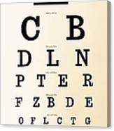 Antique Eye Chart Canvas Print