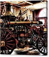 Antique Fire Engine Canvas Print