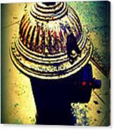 Antique Vintage Fire Hydrant - Multi-colored Canvas Print