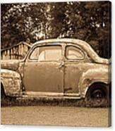 Antique Ford Car Sepia 1 Canvas Print