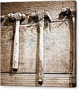 Antique Hammers Canvas Print