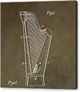 Antique Harp Patent Canvas Print